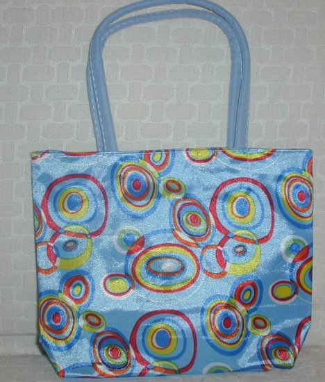 handbagbargains: Blue Retro Circles (Bubbles) Print Purse