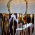 handbagbargains: Brown Funky Striped Purse