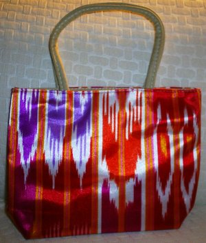 handbagbargains: Red Funky Striped Purse