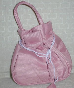 handbagbargains: Pink Drawstring Purse