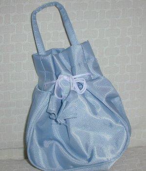 handbagbargains: Blue Drawstring Purse
