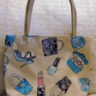 handbagbargains: Tan Teen Accessory Print Purse