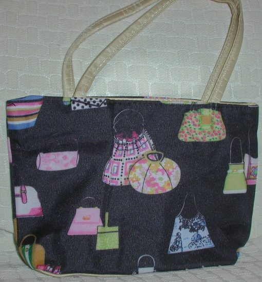 handbagbargains: Black Handbag Print Purse