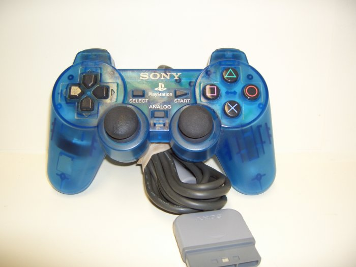 PS2 - Dual Shock 2 Analog Controller in Blue by Sony