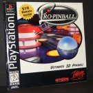 Pro Pinball Ultimate 3d Pinball Instruction Manual Only for Playstation PS1