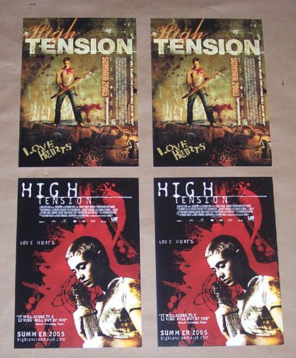 2 HIGH TENSION (2005) - Promo Post Cards