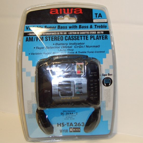 Aiwa am/fm stereo cassette Player HS-TA263