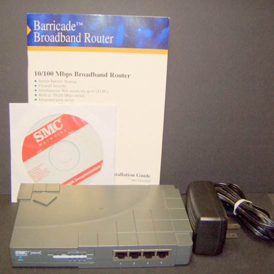 SMC Barricade SMC7004ABR Cable/DSL router w/ 4-port 10/100Mbps switch & Integrated Print Server