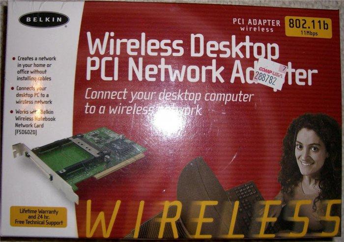 Belkin F5D6000 Wireless Desktop PCI Network Adapter