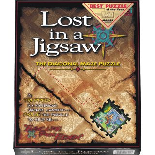 Lost in a Jigsaw The Diagonal Maze Puzzle BEST Puzzle of the Year! 1997 New in Box/Sealed