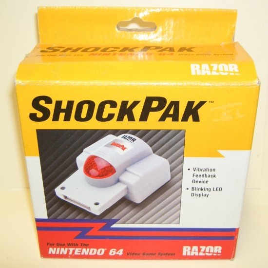 Razor ShockPak For Use with the Nintendo 64 New In box