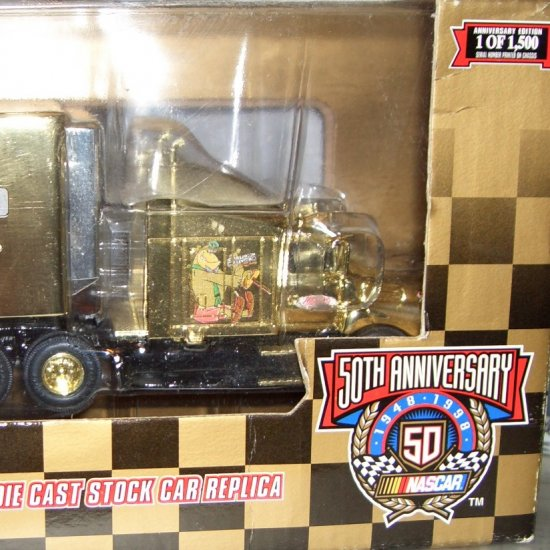 NASCAR Gold Racing Champions 50th Anniversary 1:64 Scale Premier Transporter & Car #9