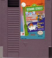 Sesame Street ABC Letter go round ~ Original 8-bit Nintendo NES Game Cartridge