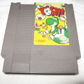 Yoshi ~ Original 8-bit Nintendo NES Game Cartridge