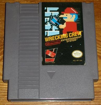 Wrecking Crew ~ Original 8-bit Nintendo NES Game Cartridge