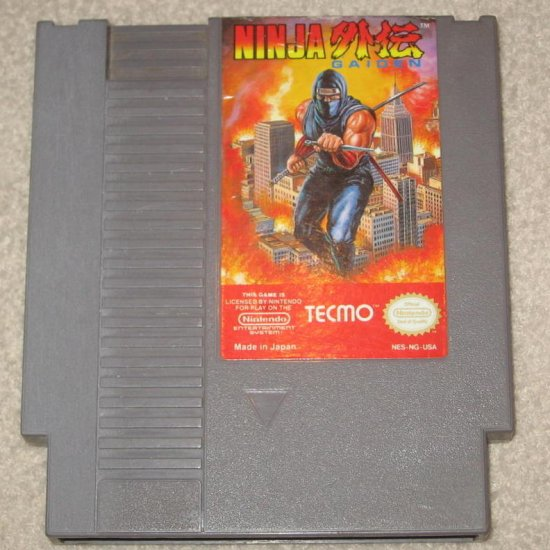 NINJA GAIDEN ~ Original 8-bit Nintendo NES Game Cartridge