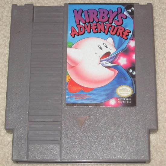 Kirby's Adventure ~ Original 8-bit Nintendo NES Game Cartridge