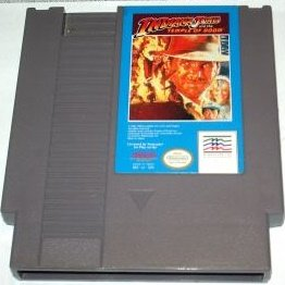 Indiana Jones and the temple of doom ~ Original 8-bit Nintendo NES Game Cartridge
