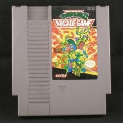 Teenage Mutant Ninja Turtles II Arcade Game ~ Original 8-bit Nintendo Nes Game Cartridge