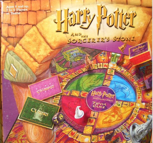Harry Potter And The Sorcerer's Stone Trivia Game 2000 Mattel