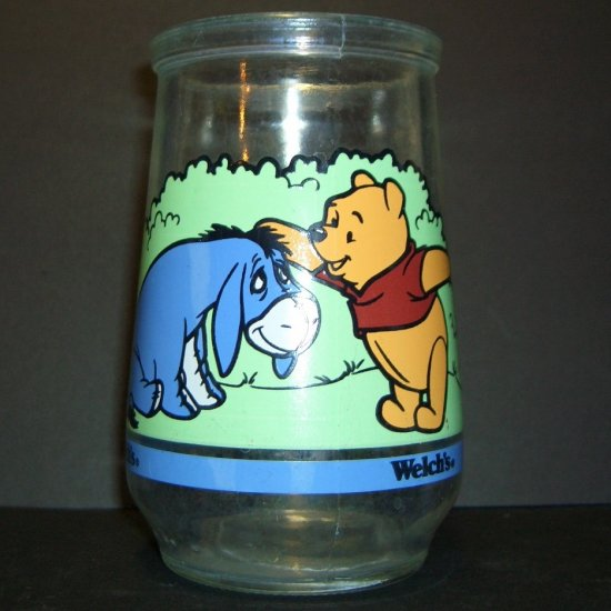 Collectible Welch's Jelly Jar 1 of 6 Eeyore & Pooh ~ Pooh's Grand Adventure