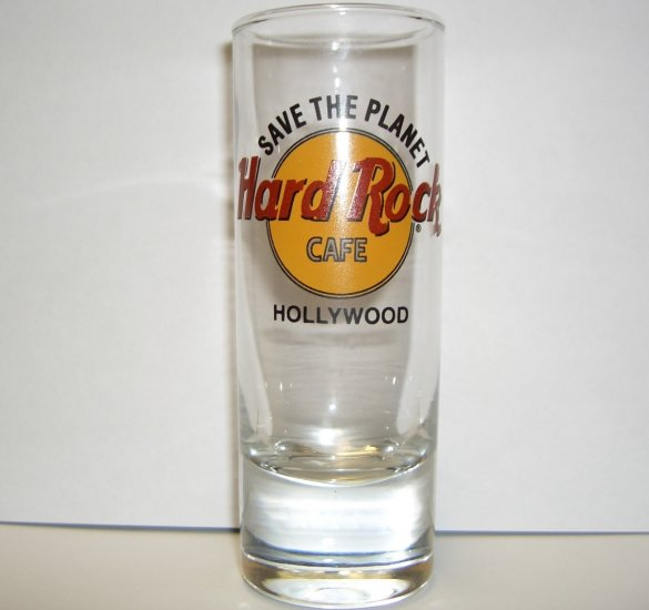 Hard Rock Cafe HOLLYWOOD Save The Planet 3rd Gen Shot Glass