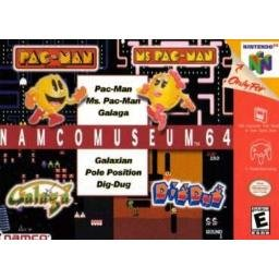 NAMCO MUSEUM 64 PAC-MAN, MS. PAC-MAN, GALAGA, GALASIAN, POLE POSITION, DIG DUG ~ N64 Nintendo 64
