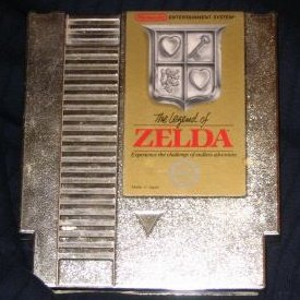THE LEGEND OF ZELDA ~ Original 8-bit Nintendo NES GOLD Game Cartridge