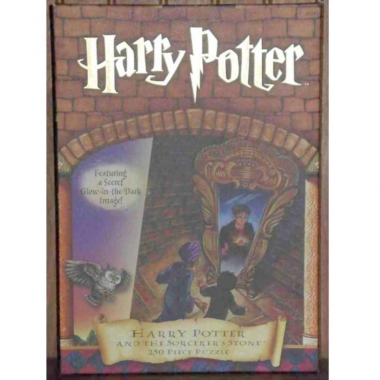 HARRY POTTER And The Sorcerer's Stone 250 Piece Jigsaw Puzzle NEW (2000) with Glow-in-the-dark image
