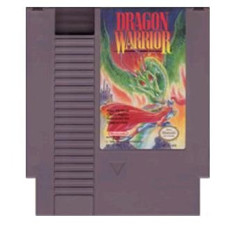 DRAGON WARRIOR Original 8-bit Nintendo NES Game Cartridge with Instructions
