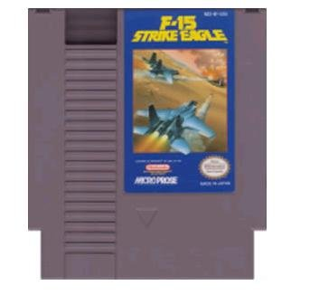 F-15 STRIKE EAGLE ~ Original 8-bit Nintendo NES Game Cartridge