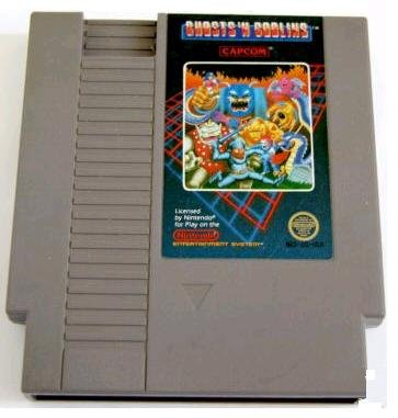GHOSTS 'N GOBLINS ~ Original 8-bit Nintendo NES Game Cartridge