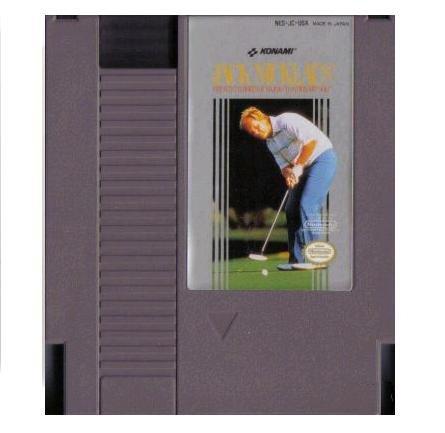 JACK NICKLAUS GREATEST 18 HOLES OF MAJOR CHAMPIONSHIP GOLF ~ Original 8-bit  NES Game Cartridge