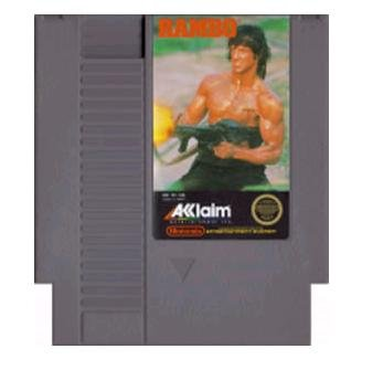RAMBO ~ Original 8-bit Nintendo NES Game Cartridge