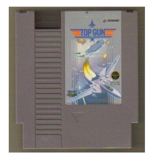 TOP GUN Original 8-bit Nintendo NES Game Cartridge