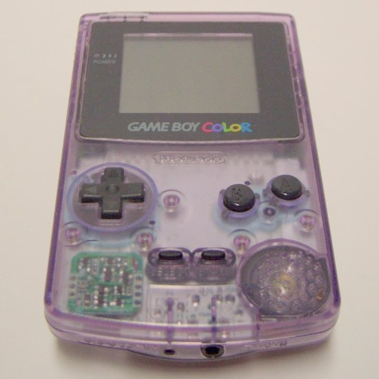 Game Boy Color Atomic Purple CGB-001 (1998) with game