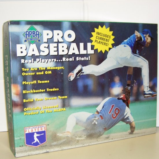 1995 APBA Pro Baseball Board Game Real Players