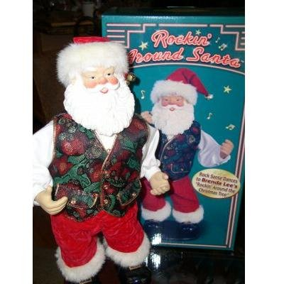 Rockin' Around Animated Santa by Rock Santa Collectibles Mint in Box