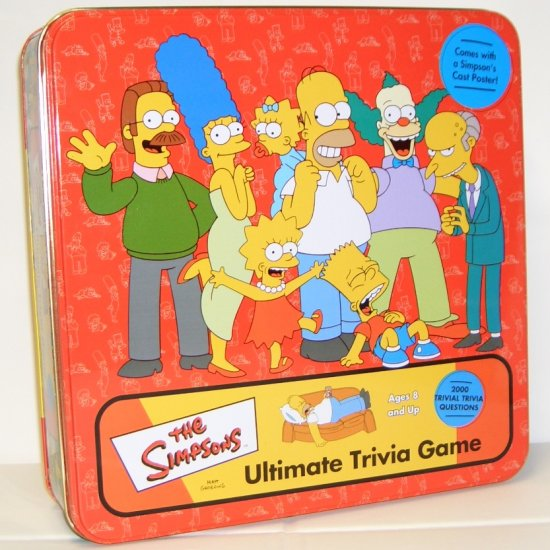 The Simpsons Ultimate Trivia Game in Collectors Tin (2002) by Cardinal
