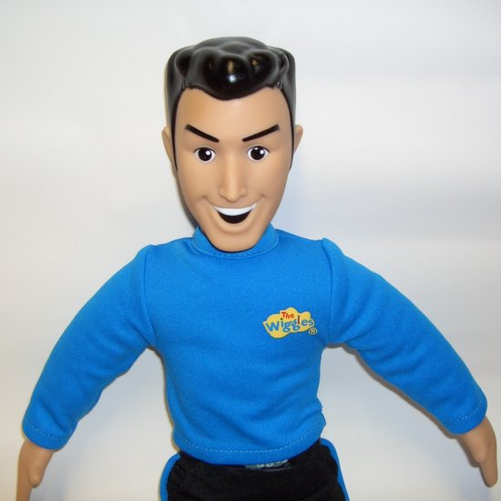 "The Wiggles Talking & Singing 15"" ANTHONY Doll Blue Shirt"