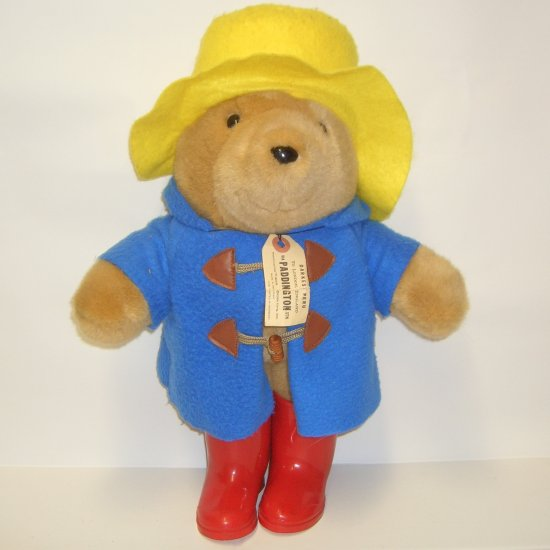 "Vintage Paddington Bear 16"" 1981 Eden Toys Collectible Plush Stuffed Bear"