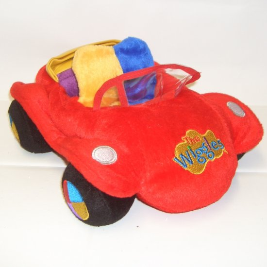 THE WIGGLES Plush BIG RED CAR Collectible RARE