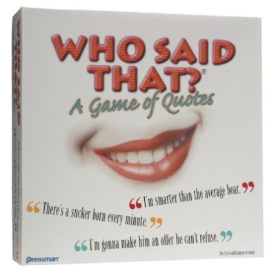 Who Said That? Trivia Game Rare  ©2000 Pressman Toy Corp