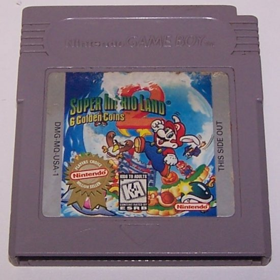 SUPER MARIO LAND 2: 6 GOLDEN COINS ORIGINAL GAME BOY GAME