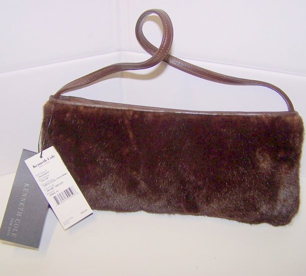 Kenneth Cole New York Faux Mink purse bag $80 Retail!