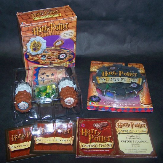 Harry Potter Casting Stones Collectible Game Includes Refill Package!