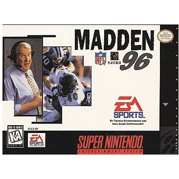 Madden NFL '96 Super Nintendo Game