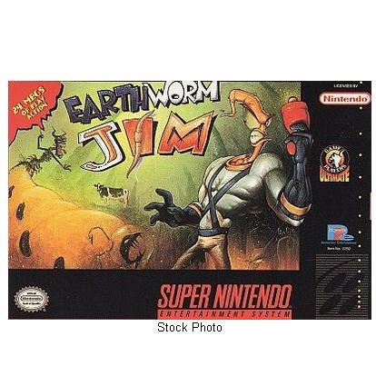 EARTHWORM JIM Super Nintendo Game