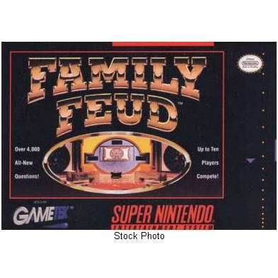 FAMILY FEUD Super Nintendo Game complete