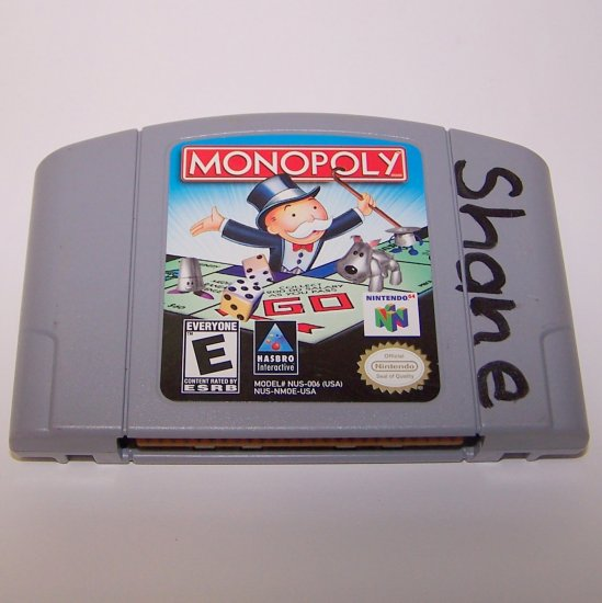Monopoly 64 Nintendo N64 Game Cartridge